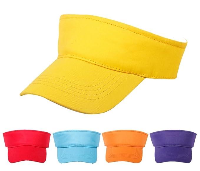 56581afbca9 Amazon.com   Eforstore Children Deluxe Cotton Visor Topless Sun Hat  Baseball Golf Caps   Sports   Outdoors