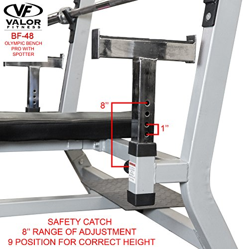 Valor Fitness BF-48 Olympic Bench Pro with Spotter by Valor Fitness (Image #3)