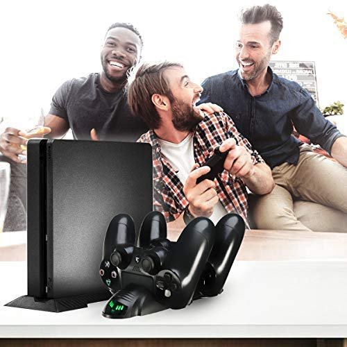 Anewish Playstation 4 Charging Station PS4 Controller Charger LED Indicator Sony Playstation 4 PS4/PS4 Pro/PS4 Slim Controller PS4 Charging Dock