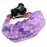 LIFEMATE Scarf Camera Strap,DSLR Camera Strap Universal Neck Strap,Fabric Of Bohemia Floral Scarf Camera Strap (Ink Painting Purple)