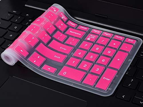 Keyboard Cover Compatible 2018 Flagship Dell G3/G5/G7 Series, 15.6 inch Dell Inspiron 15 3000 5000 7000 Series, 17.3 Dell Inspiron 17 5000 Series, 17.3 Dell G3 Series(with Numeric Keypad), Hot Pink
