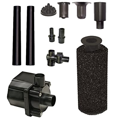Beckett Corporation Pond Pump Kit with Prefilter and Nozzles, 400 GPH