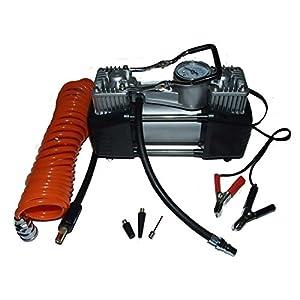 portable mini air compressor heavy duty twin piston 12v double portable mini air compressor heavy duty twin piston 12v double head superfast by dynatec