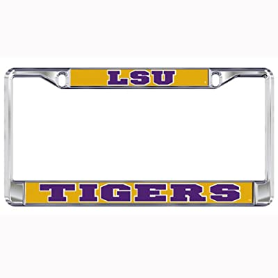 LSU Tigers Domed Metal License Plate Frame: Automotive