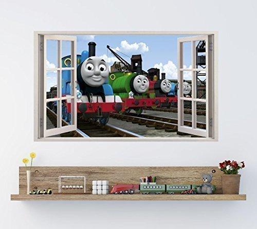 THOMAS TANK U0026 Friends Window Effect Vinyl Wall Art Sticker **GIANT SIZE**