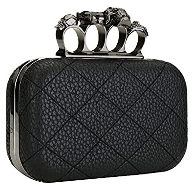 Amazon.com: EROUGE - Bolso acolchado de piel sintética para ...