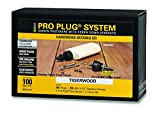 PRO-PLUG SYSTEM for Hardwoods - 350 pc Kit for 100 Sq. Ft. - Tiger Wood plugs 5/16'' diameter