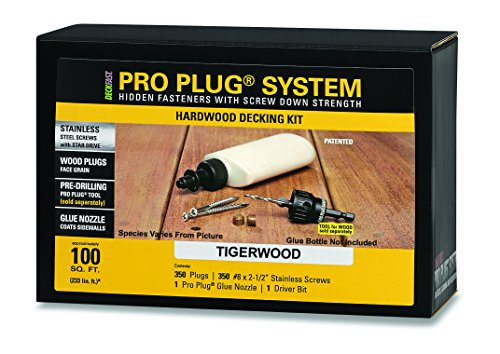 PRO-PLUG SYSTEM for Hardwoods - 350 pc Kit for 100 Sq. Ft. - Tiger Wood plugs 5/16