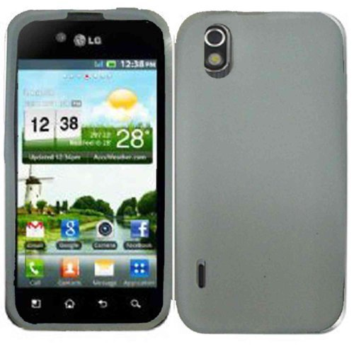 Clear Silicone Jelly Skin Case Cover for LG Marquee LS855 Optimus Black P970 (Lg P970 Optimus Case)