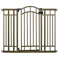 Baby Infant Multi-uso Deco Extra alto Walk-Thru Baby Gate, Bronce