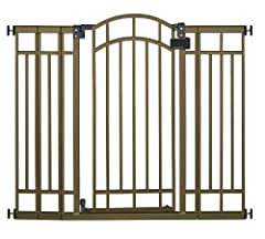 Child proof your home in style with the Summer Infant Multi-Use Deco Extra Tall Walk-Thru Gate. This attractive metal gate is adjustable to accommodate most door openings and stairways. Hardware is included for extra secure mounting at top of...