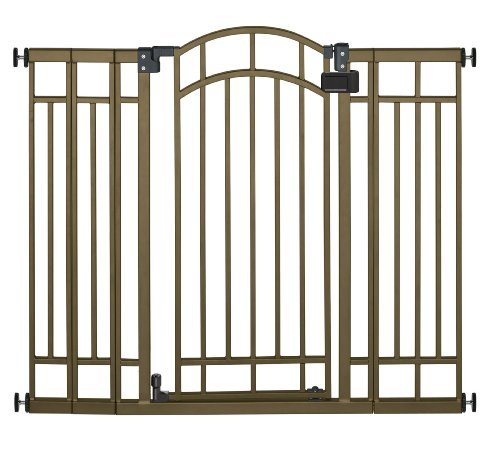 Optional Metal Finishes - Summer Infant Multi-Use Deco Extra Tall Walk-Thru Baby Gate, Bronze