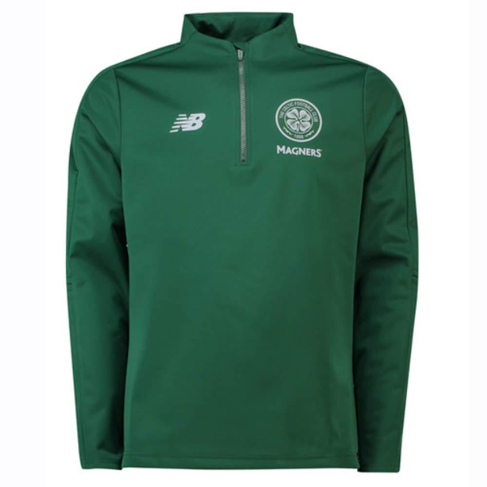 New Balance 2018-2019 Celtic Elite Training Half Zip Softshell (Grün)