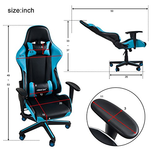 512HTpWnWdL - Merax-Ergonomic-High-Back-Swivel-Racing-Style-Gaming-Chair-PU-Leather-with-Lumbar-Support-and-Headrest
