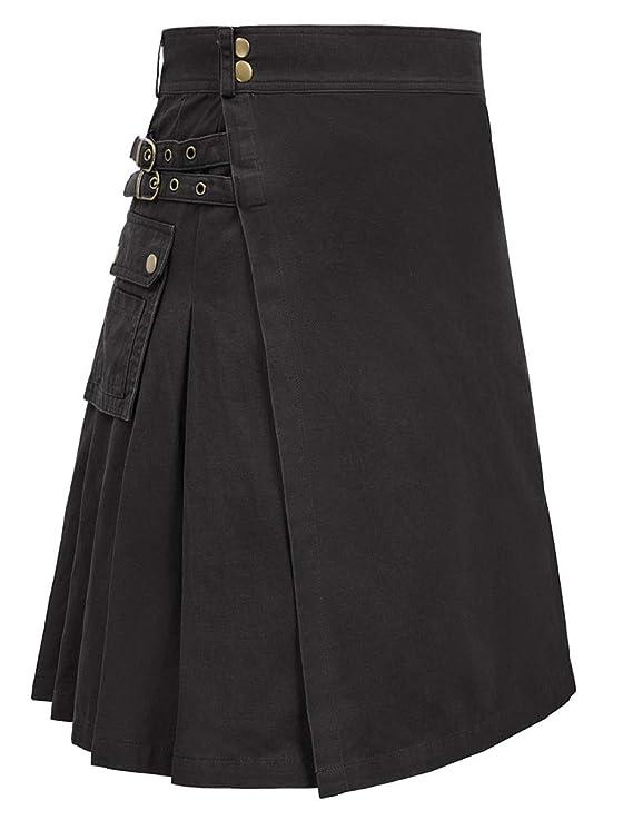 Men's Steampunk Pants & Trousers Scottish Mens Kilt Traditional Highland Tartan Utility Kilt $36.99 AT vintagedancer.com