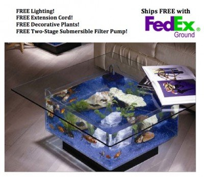 fish tank coffee table Amazon.com: Midwest Tropical Fountain 25 Gallon Aqua Coffee Table  fish tank coffee table