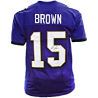 $112 » Autographed Marquise Brown Jersey - Pro Edition Purple) - JSA Certified - Autographed NFL Jerseys