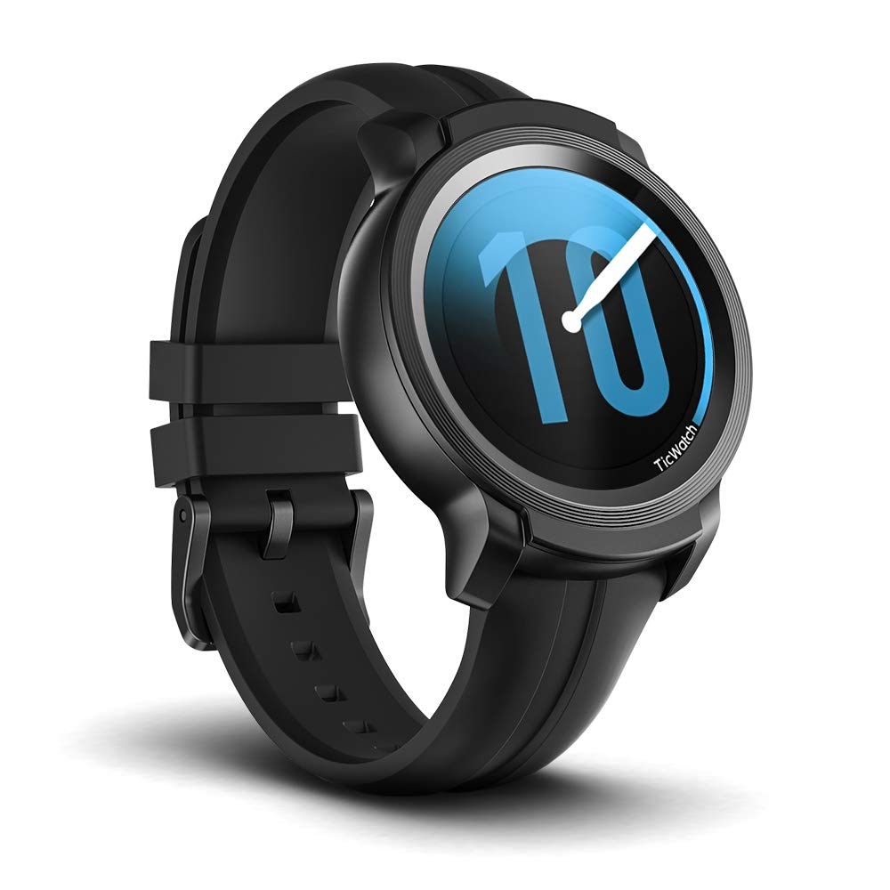 Ticwatch E2, Waterproof Smartwatch with 24 Hours Heart Rate Monitor, Wear OS by Google, Compatible with Android and iOS by Ticwatch