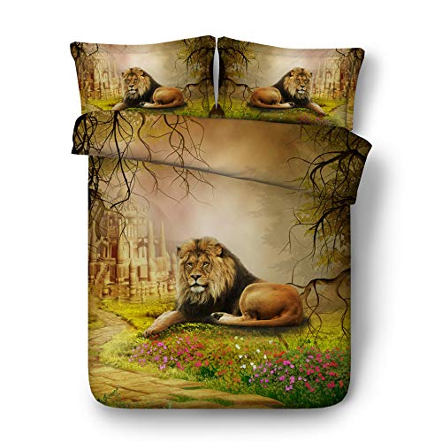 beautiful lion print bedding