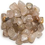 "Hypnotic Gems Materials: 3 lbs Tumbled ""AA"" Grade Rutilated Quartz - Small - 0.75"" to 1.25"" Average - Bulk Natural Polished Gemstone Supplies for Wicca, Reiki, and Energy Crystal Healing"