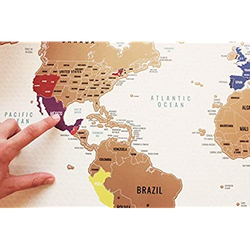 Scratch off world map world travel tracker map large size poster dukit scratch off world map world travel tracker map large size poster 345x205 inches gumiabroncs Choice Image