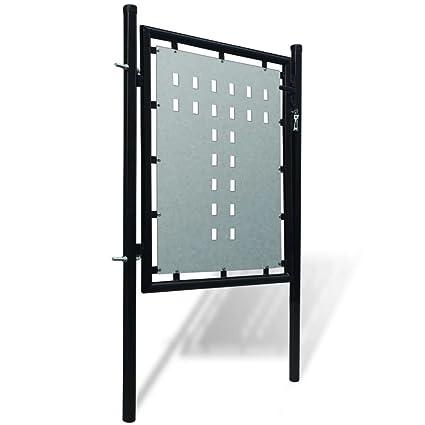 Cancello Cancelletto Per Recinzione Singolo Nero 100 X 150 Cmquesto
