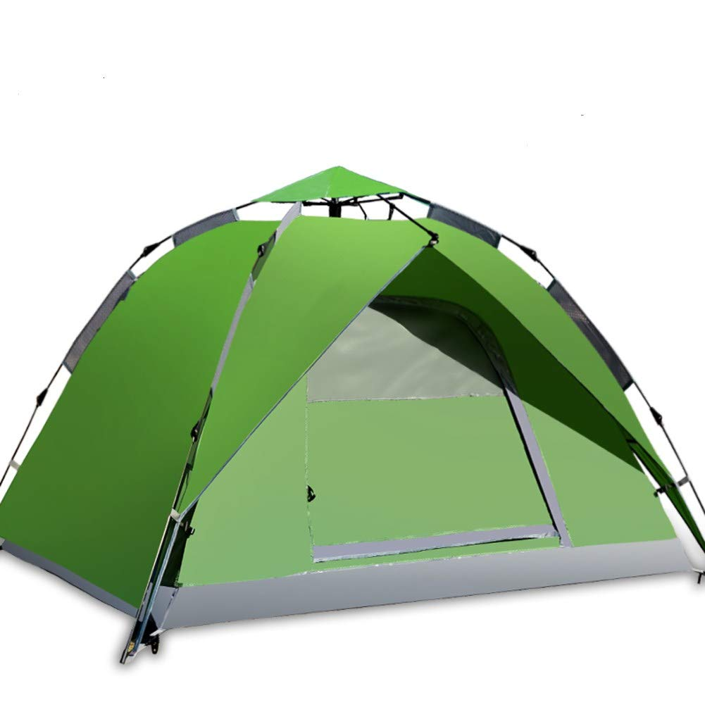 HUIYUE 3-4 Personen Outdoor Zelt,Doppelte Automatische Popup Strandzelt,Campingzelt,UV-Schutz Verdickung Wasserdicht Wandern-F 200x180x130cm(79x71x51inch)