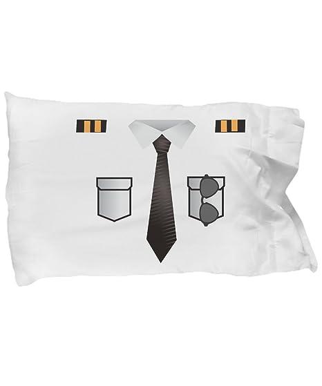 Amazon.com: Bonito diseño de fundas de almohada Pilot traje ...