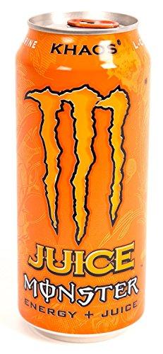16 Pack - Monster Khaos Energy & Juice - 16oz.