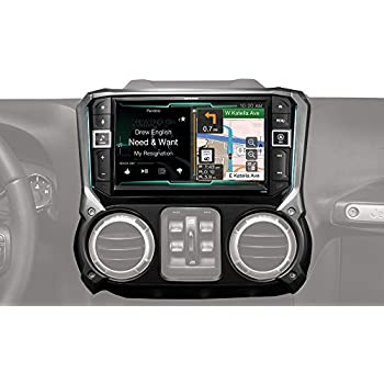 2007 2017 jeep wrangler in dash gps navigation dvd cd player bluetooth a2dp audio. Black Bedroom Furniture Sets. Home Design Ideas