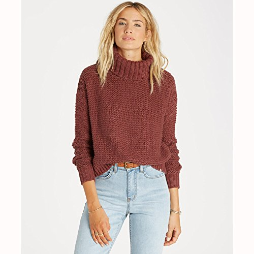 Billabong Junior's Here We are Chunky Turtleneck Sweater,...