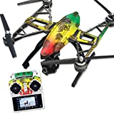 MightySkins Protective Vinyl Skin Decal for Yuneec Q500 & Q500+ Quadcopter Drone wrap cover sticker skins Rasta Lion