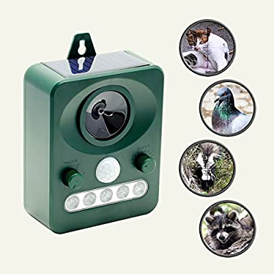 REPEL YELL Animal Repellent Cat Repeller Pest Repeller, Bird Repellent Devices, Raccoon Repellent, Squirrel Repellent, Motion-Activated Ultrasonic Animal Repeller for Outdoor Pest Control