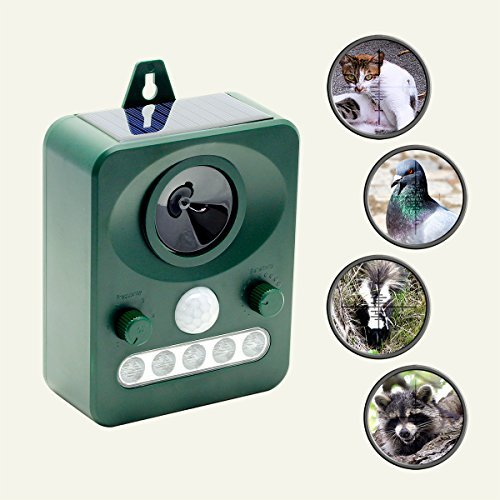 REPEL YELL Animal Repellent Cat Repeller Pest Repeller, Bird Repellent Devices, Raccoon Repellent, Squirrel Repellent, Motion-Activated Ultrasonic Animal Repeller for Outdoor Pest - Bird Solar Repeller