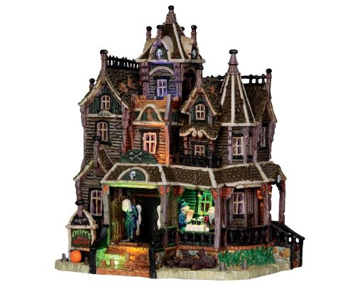 Lemax 35550 Creepy's Bed & Breakfast Spooky Town Building Village Halloween Decor S O Scale (Spirit Halloween Light And Sound Control)