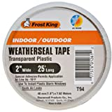 Frost King T94H Clear Plastic Weather-Seal Tape 2-Inch by 25-Feet, Clear