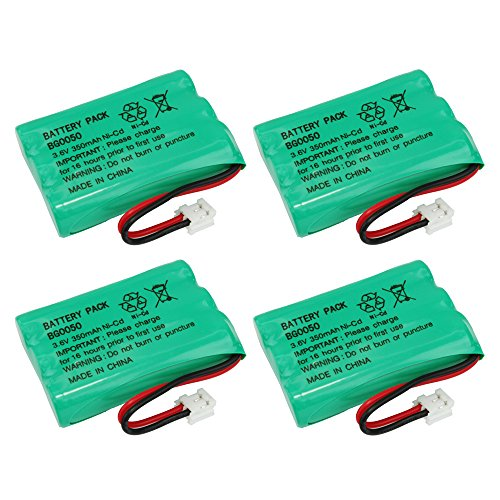 4 Pack Fenzer Replacement Cordless Phone Rechargeable Battery for Motorola C50 C51 E32 E33 E34 E51 E52 MD-4250 MD-4260 MD-7101 MD-7151 MD-7161 MD-7250 MD-7251 MD7260 MD-7261 MD-761 MD-781 MD-791 (E51 Replacement)