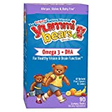Yummi Bears Omega 3 + DHA Supplement for Kids, 90 Gummy Bears