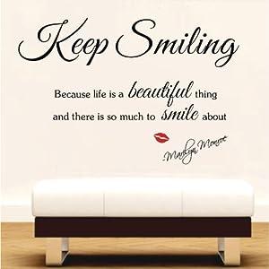 Marilyn Monroe Wall Sticker Decal Art Decor Quot Keep Smiling