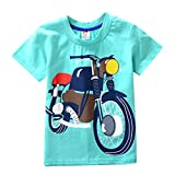 Kids Boys Motorbike T-Shirt Easter Short Sleeve Shirts Casual Tops Cotton Tee Age 2 3 4 5 6 7 8 Years