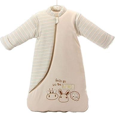 Nine States Baby Soft Cotton Sleepsack Long Sleeve Wearbale Blanket M Beige