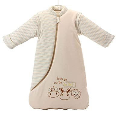 9a166a6ffa5b Amazon.com  OuYun Baby Organic Sleeping Bag Detachable Sleeve ...