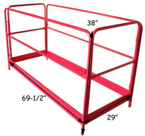 GHP Scaffolding Guard Rail System w Safety Lock