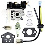 QAZAKY Carburetor with Fuel Filter Maintenance Kit Spark Plug for Zama RB-K85 Echo PB-251 PB-265L PB-265LN A021001350 A021001351 A021001352 Power Blower Carb
