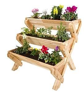 Cedarcraft Cascading Garden Planter 3 Tier