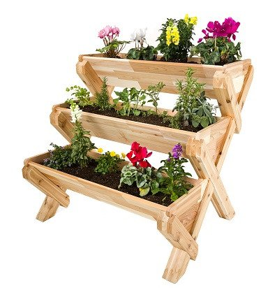 CedarCraft Cascading Garden Planter - 3 Tier by CedarCraft