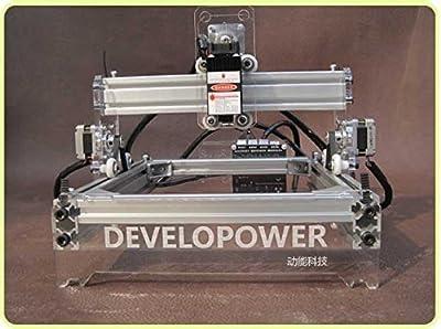 "Mini DIY Laser Engraving Machine Laser Engraver Laser Cutter Desktop Laser Cutting Logo Picture Marking, 7"" x 9"" Bench, Blue Violet Light, 200mw"