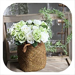 Memoirs- 2PCS Beautiful Artificial Rose Bouquet Simulation Vivid Flower Bud Hydrangea Bridal Wedding or Birthday 10
