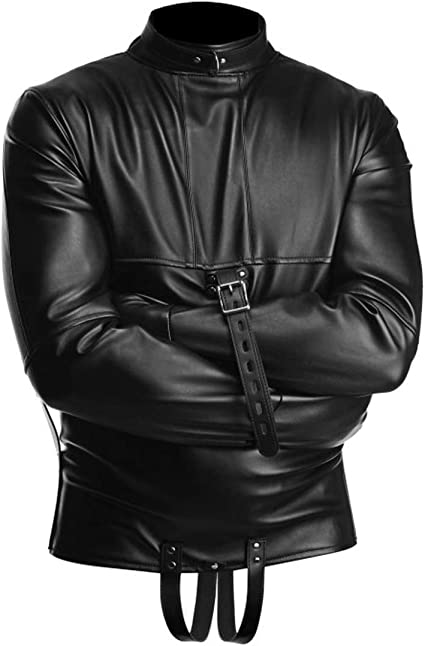 Straight Jacket Strict Vegan Leather Bondage Adult Extra Large Unisex Restraints