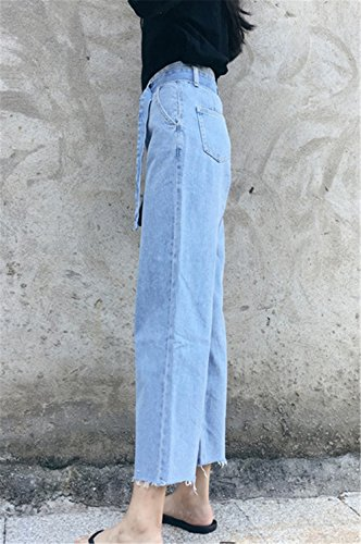 Alta 8 Mom Anchos 7 Pantalones Jeans clothing Senora Relaxed Vaqueros Mujer Pants Sueltos Cintura COCO les WSOF7n